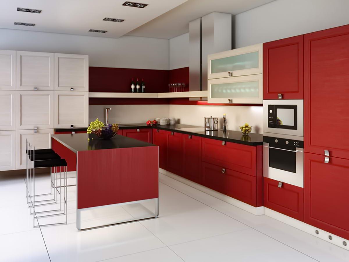 Дизайн белого кухонного гарнитура фото