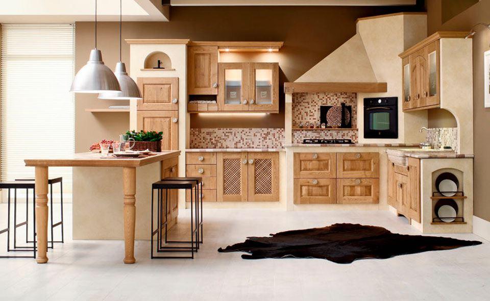 Progetti cucine in muratura moderne